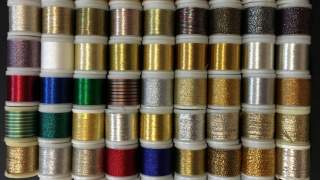 Gold and silver yarn